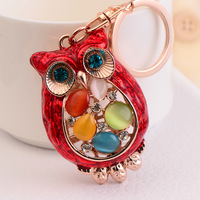 2014 fashion Car key female - eye owl keychain key chain