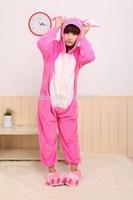 Pink stitch cartoon one piece sleepwear