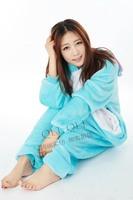 Top comfortable and soft cartoon flannel sleepwear blue