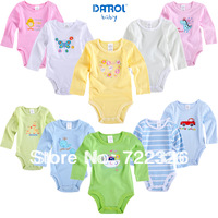 5pcs/lot baby bodysuits  long sleeve cotton bodysuits infants wear jumpsuits free shipping