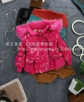 2013 high quality,3pcs/1lot children's coat 100% cotton boy's coat wool winter coat children clothing grils in the winter coat
