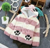 HOT!(3pcs/1lot)cute plush bear children quilted jacket winter jacket coat wholesale children cartoon cotton-padded clothes