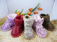 Children's snow boots genuine Korean children BDG snowflake low boots children's boots snow boots cotton-padded shoes
