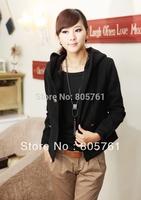 2013 new design Women short slim jacket/artifical woolen outerwear plus size free shipping