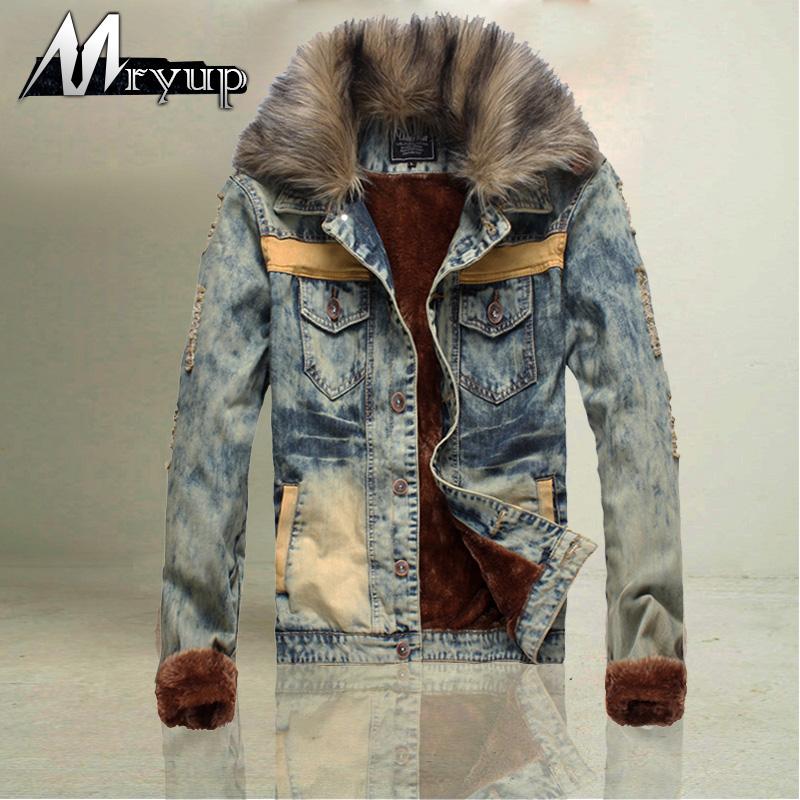 Wholesale-Spike ! Men Clothing Winter Fur Collar Sport Brand ...