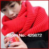 2013 Autumn and Winter Fashion Thickening 10 Colors Unisex Knitting Wool Collar Neck Warmer Ring Scarf Cachecol Free Shipping