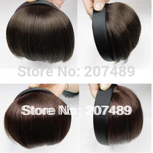 synthetic wig bangs refresher facial Hairband tie hair hoop tools Maker band forehead hair decoration head wholesale(China (Mainland))