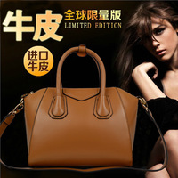 Fashion vintage 2013 the trend of fashion genuine leather handbag women's one shoulder handbag messenger bag leather bag