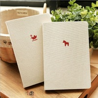 Free Shipping Tsmip diary korea stationery hemp notepad brief fluid cowhide paper
