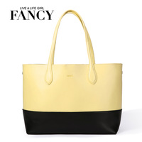 Fancy 2013 large capacity fashion cowhide fashion shoulder bag genuine leather brief women's handbag big bags