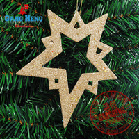 For decoration pendant 15cm scrub star sticky powder christmas tree ornament 10piece/lot 10g Christmas Decoration Supplies