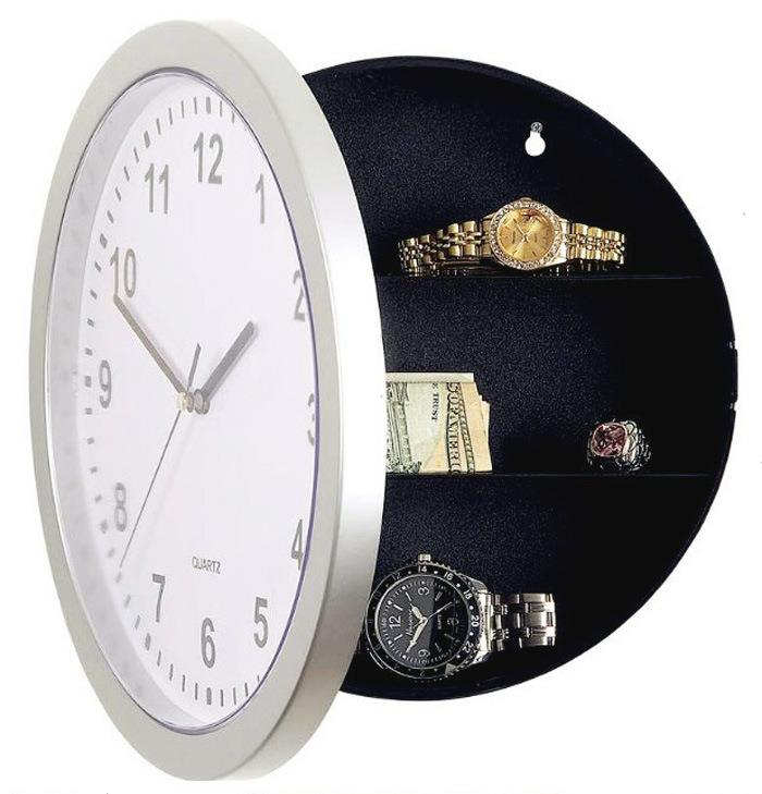 Clock Safe Hidden Storage Box, safe cabinet Jewelry Storage Box Case conceal Holder Watch+ Novelty Wall Clock + Freeshipping !(China (Mainland))