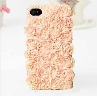 New Hot Fashion crystal rose case for apple iphone 4 iphone 4s case cell phone protection shell case free shipping