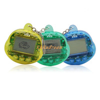 Free Shipping New Arrival 2pcs/lot Electronic Digital Pet Player flip pet machine 50 pets Key Chain with 2.7cm screen