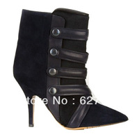 European Style High Heel Boots,Pointed Toe Ankle Boots,Free Shipping Women Boots