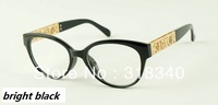 The new premium women's plain mirror / metal flower-shaped mirror legs specialty glasses