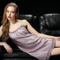Lounge pure silk sleepwear mulberry silk nightgown summer female sexy suspender skirt