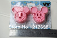Free Shipping 2 pcs/set, Cartoon Cookie Cutter ,Pastry Decorating Tools , Food-grade resin material