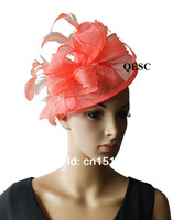 sinamay Feather Fascinators for kentucky derby,wedding.