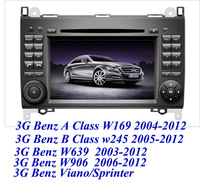 3G car dvd for Mercedes Benz A class w169,B class w245,w639,w906,benz vito viano sprinter with GPS bluetooth Ipod tv DVR