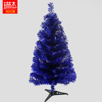 90cm Christmas blue christmas tree decoration gift small christmas tree bundle christmas tree decoration