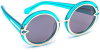 Authentic  the genuine Karen Walker KW Orbit-Blue Sunglasses Eyewear  Free Shipping