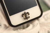Accept mix order 10 pcs/lot Chrome hearts, Cross, Star of David Home Button sticker diy decoration for IPONE 5 iPad iTouch