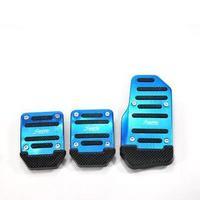 QP007 3 pcs car auto vehicle non-slip pedal aluminium alloy foot treadle cover pads free shipping