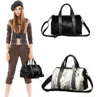 Fashion bags popular pure rabbit fur diamond fashion women's handbag messenger bag