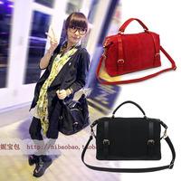 2013 new spring and summer women's leather handbag casual vintage messenger bag solid color sweet one shoulder handbag