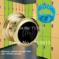 Free shipping RFID filing cabinet lock Gym lock  with wrist band key