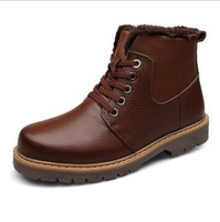 Free shipping Winter Casual Male leather men's shoes men's shoes snow boots big yards 38-48