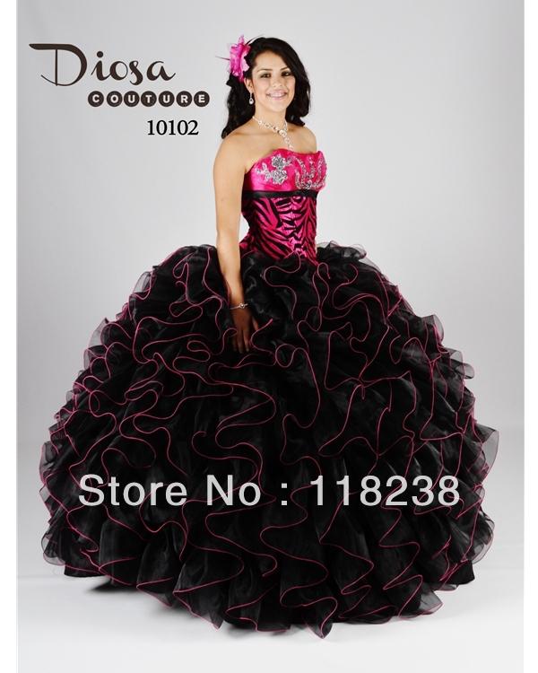 Vestidos de 15 años cebra con rosa - Imagui