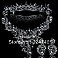 2014 New design high quality crystal bridal jewelry sets wholesale  noble jewelry wedding accessory