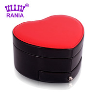 Jewelry box princess fashion quality red hearts dressing jewelry storage box birthday gift