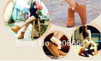 Free shipping.woman fashion snow boots.winter warm wool shoes.cheap fur boots.fashion real leather snow boots.