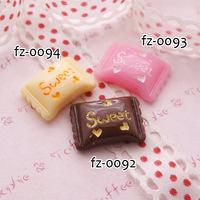 Wholesale Free shipping!simulation of   sugar kawaii flatback resin cabochons 8 colors  diy phone decoration craft Size12*17mm