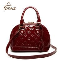 2013 women's handbag japanned leather shell bag Small fashion bridal handbag female bag messenger bag