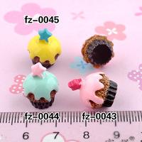 Wholesale Free shipping! kawaii flatback resin cabochons4colors  diy phone decoration craft Size12*17mm