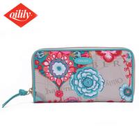 Lilija oilily zipper wallet card holder fashion female long design 3121