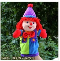 2pcs/lot free shipping  hot sale cartoon Plush clown finger puppet,fashion toys
