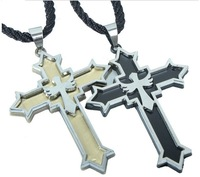 Free shipping !2 pcs/lot 2013 new design titanium  cross pendant ,vintage  necklace for Christmas gift