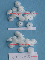 0.5 2mm plastic toys double layer gear diy