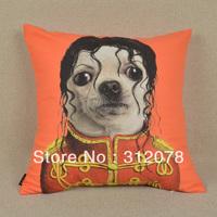 45*45 cm Home Decorative Cool Cartoon Anime Animal Dog Printed Pillowcase Cushion Cover