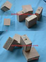 Square blockwood 4 4 1.8cm diy hand-done material model material ribband wooden