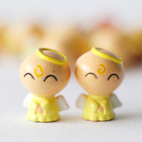Yellow little angel doll decoration doll toy diy