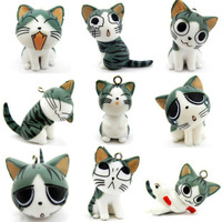 cute japanese maneki neko Cheese cat mobile chain lucky cat pendant cell phone hanging accessories for iphone 3gs 4 4s samsung