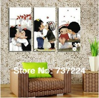 free shipping precision printed cross stitch set diy needlework kit embroidery 11ct dmc cartoon figure baby triptych unfinished