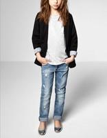 Free shipping Retail fashion cool cotton denim boys jeans brand children's long pants for 3-8 years kids girls pants 1pcs