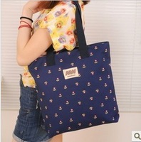 2013 canvas shoulder bag small handbag fresh women's handbag flower print bag